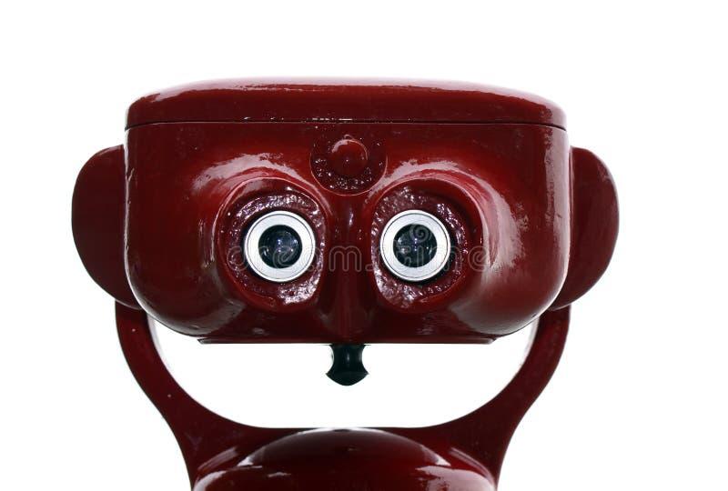Rode binoculaire toerist royalty-vrije stock afbeeldingen