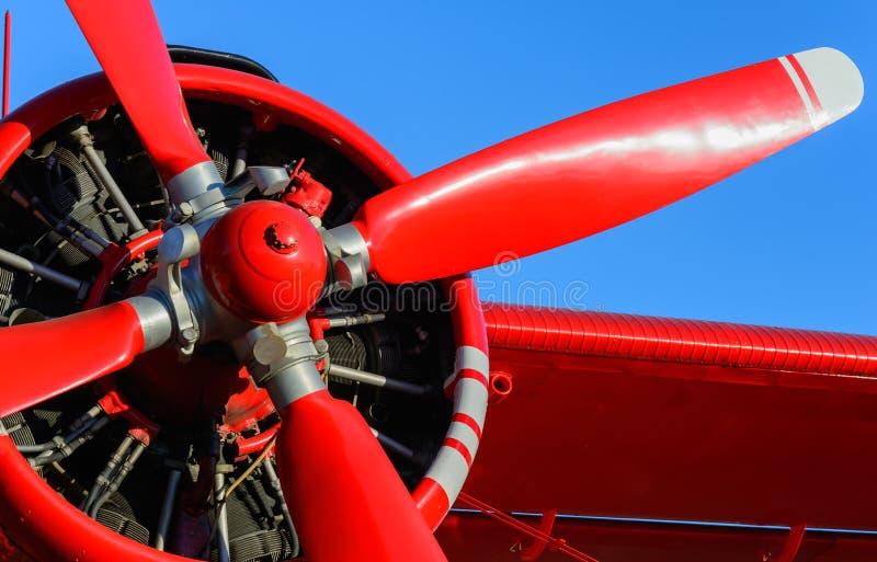 Rode bladvliegtuigen stock afbeeldingen