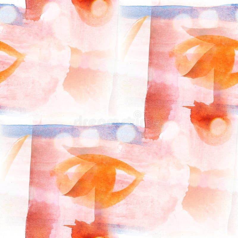 Rode blauw van de het watertextuur van het Bokeh het kleurrijke patroon, vector illustratie