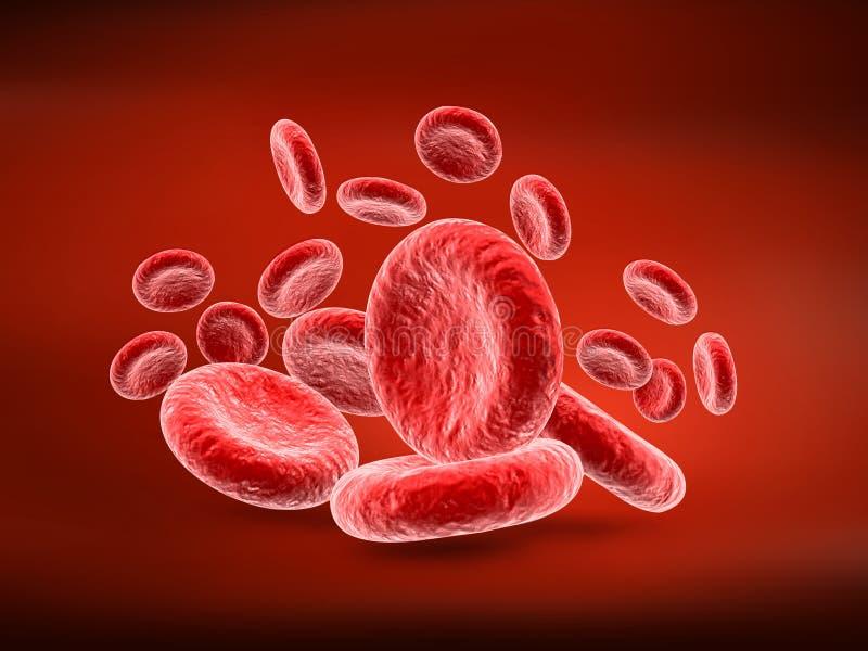 Rode bloedcellen Bloedelementen, het 3d teruggeven, illustratie royalty-vrije illustratie