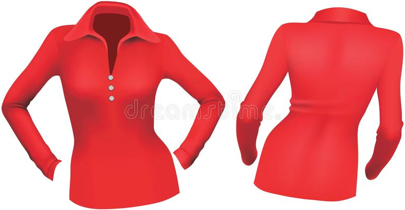 Rode blouse royalty-vrije illustratie