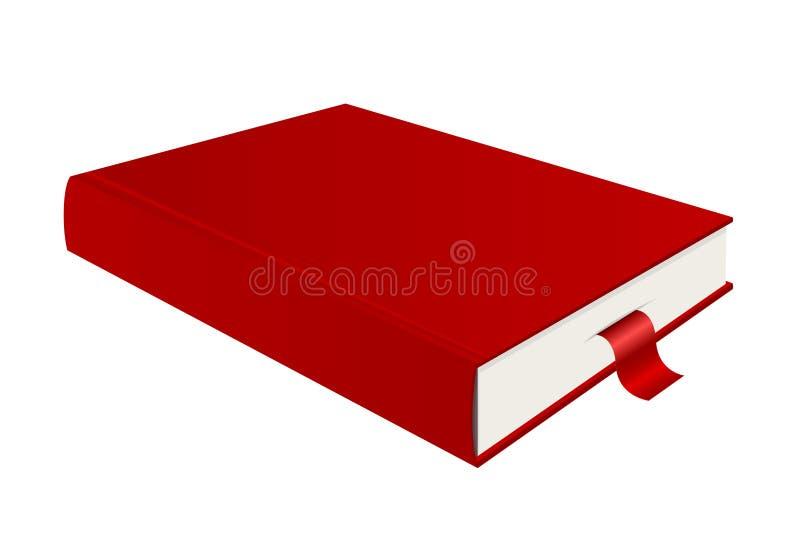 Rode boek en referentie royalty-vrije illustratie