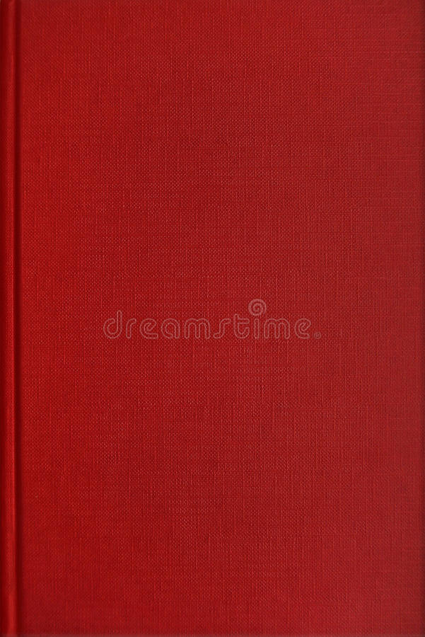 Rode boekdekking royalty-vrije stock foto