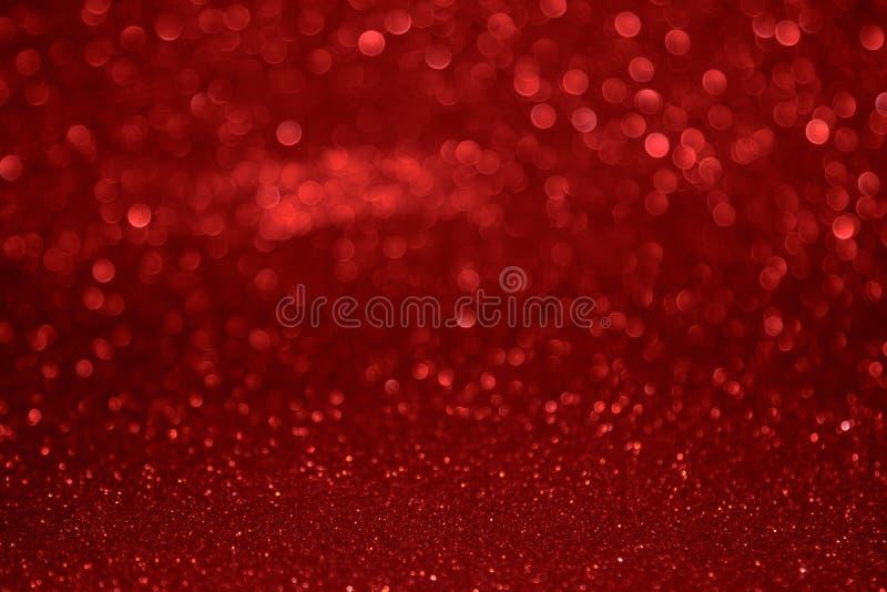 Rode bokehachtergrond van Kerstmis Het concept liefde, Valentine stock foto