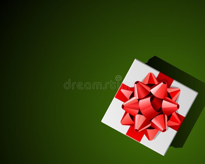 Rode boog op aanwezige Kerstmis stock illustratie