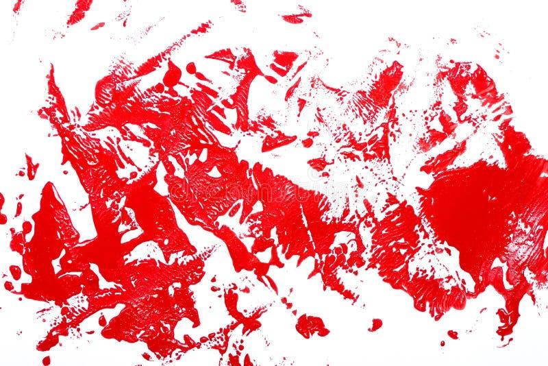 Rode borstelslagen stock illustratie