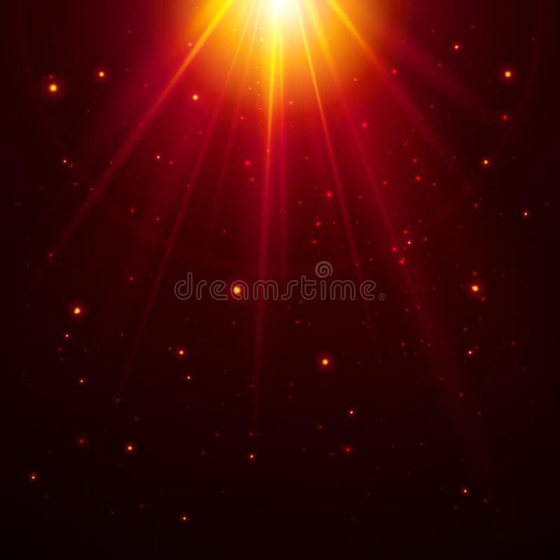 Rode bovenkant vector magisch licht royalty-vrije illustratie
