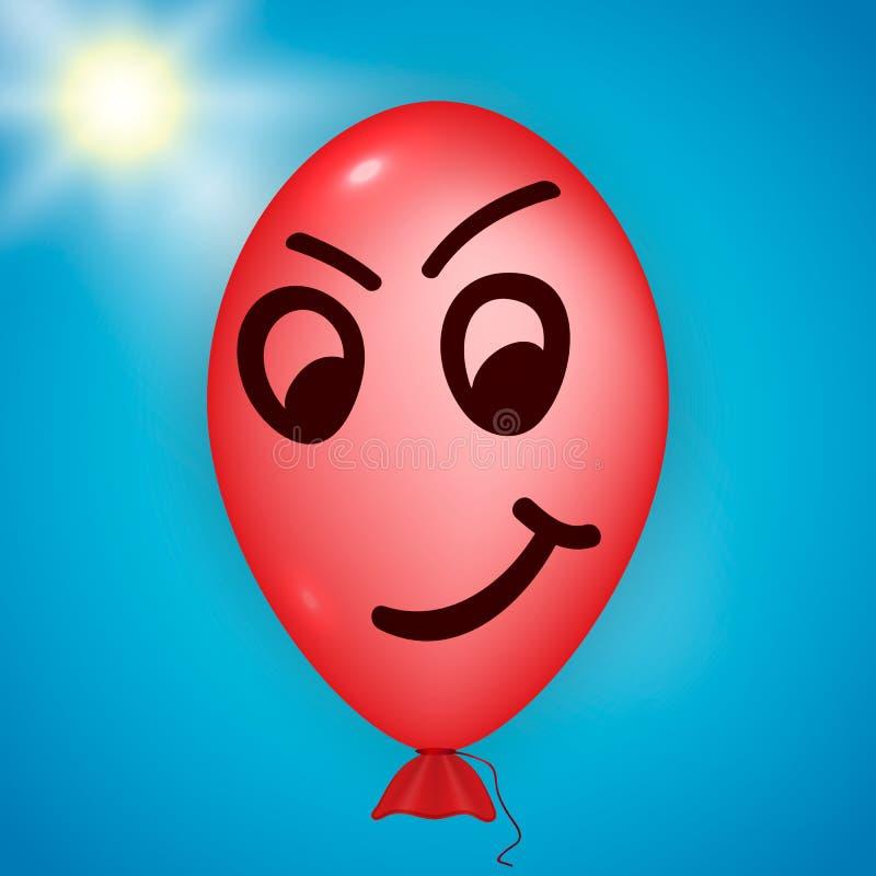 Rode boze ballon stock illustratie
