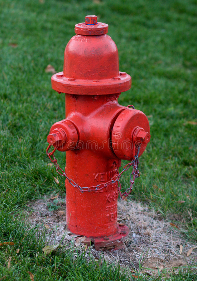 Rode Brandkraan stock afbeelding