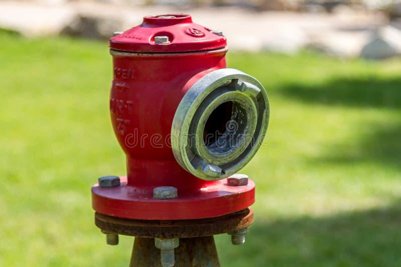 Rode brandslangschakelaar royalty-vrije stock foto's