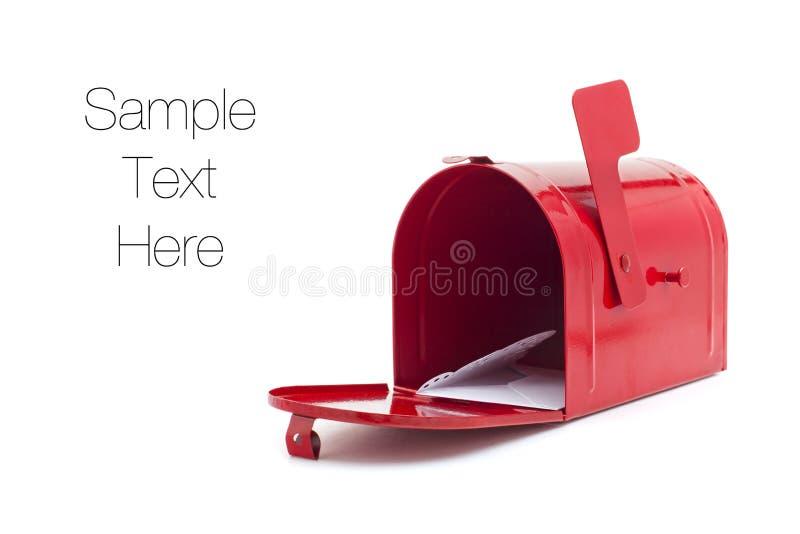 Rode brievenbus stock fotografie