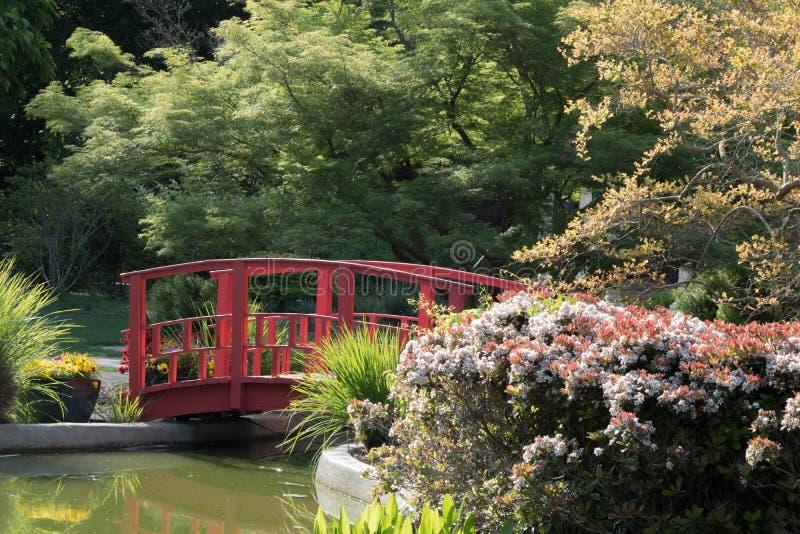 Rode brug stock foto