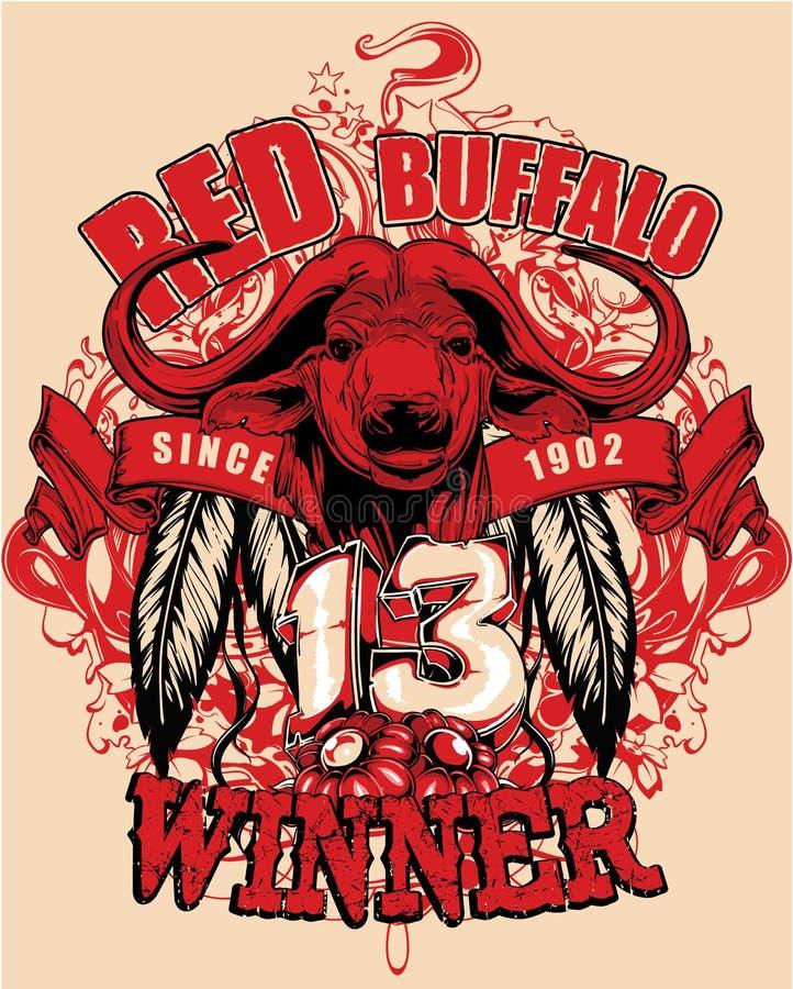 Rode buffels royalty-vrije illustratie