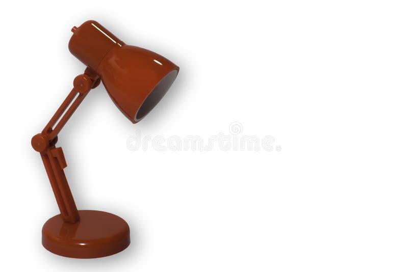 Rode bureaulamp stock afbeeldingen