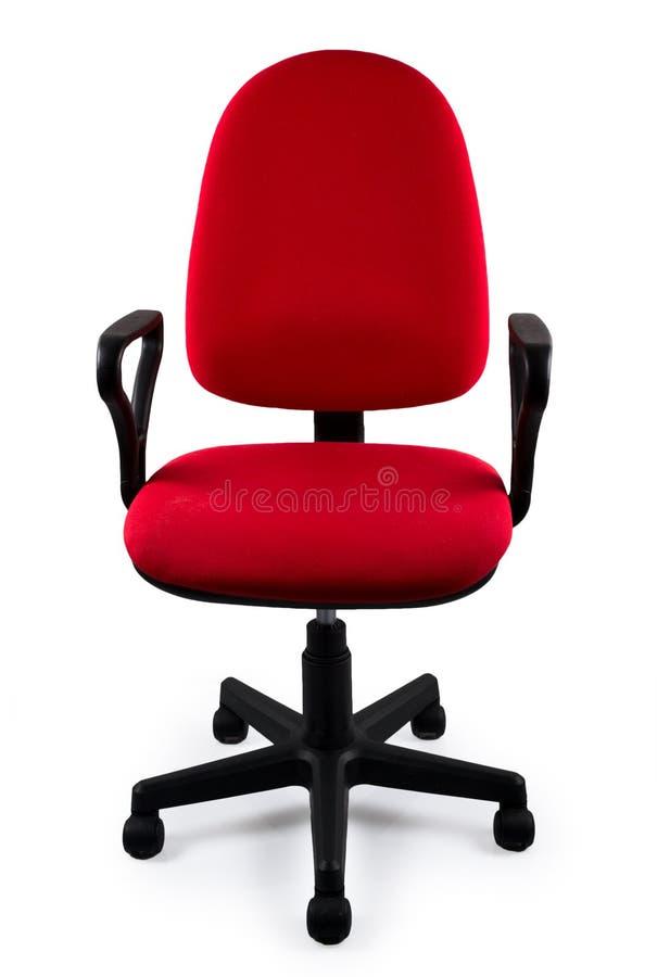 Rode bureaustoel stock foto's