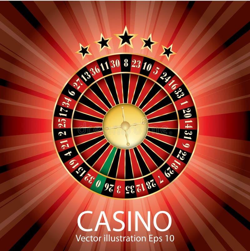 Rode casinoroulette stock illustratie