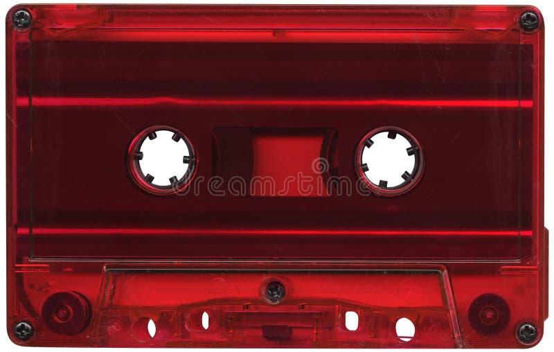 Rode cassetteband stock afbeelding