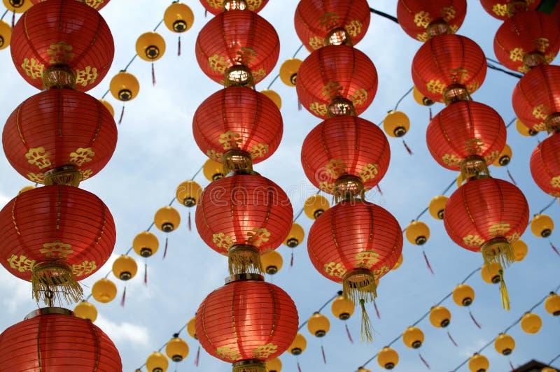 Rode Chinese document lantaarn bij de Tempel van Thean Hou royalty-vrije stock fotografie
