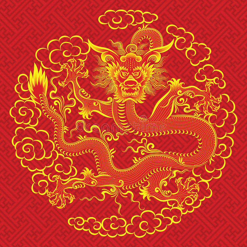 Rode Chinese draak vector illustratie