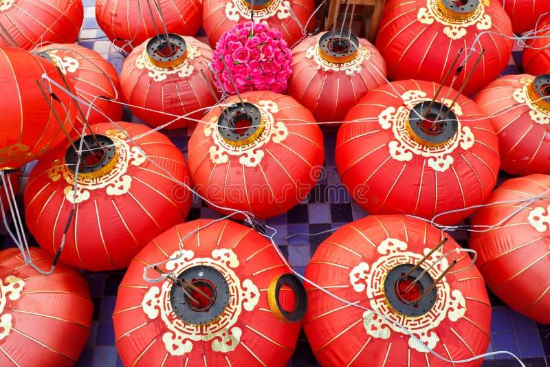 Rode Chinese lantaarn royalty-vrije stock afbeelding