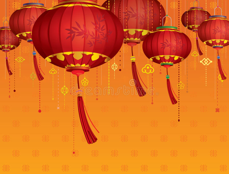 RODE Chinese lantaarnsdecoratie
