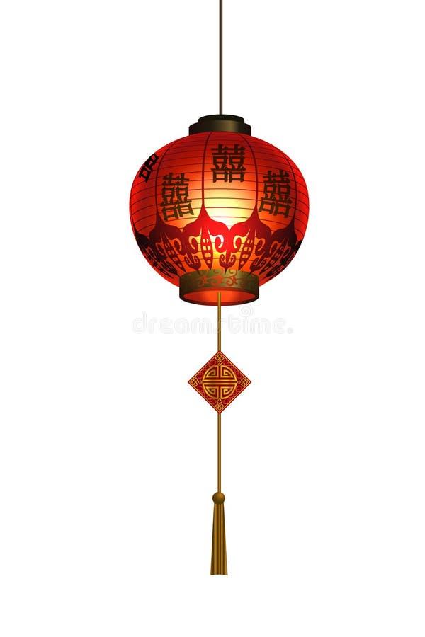 Download Rode Chinese Traditionele Document Lantaarn Vector Illustratie - Illustratie bestaande uit hang, vier: 107708110