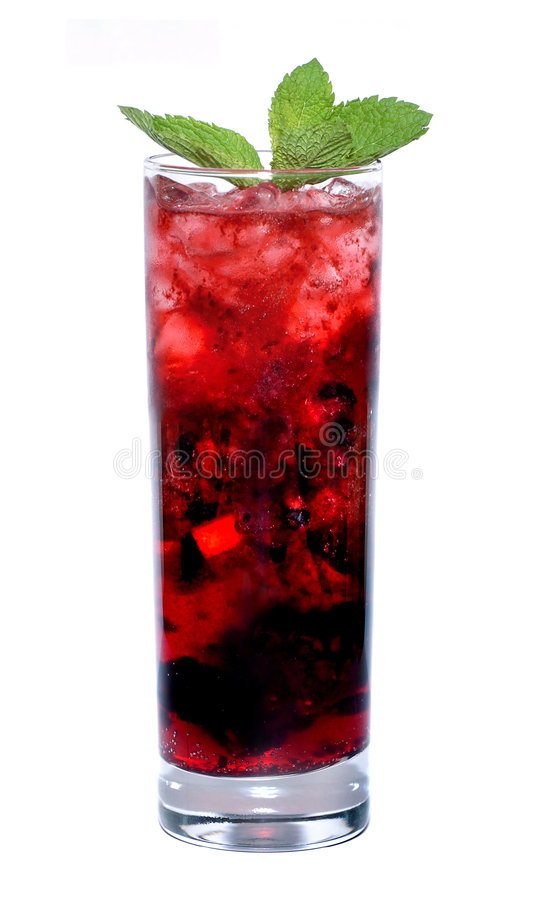 Rode cocktail stock afbeeldingen