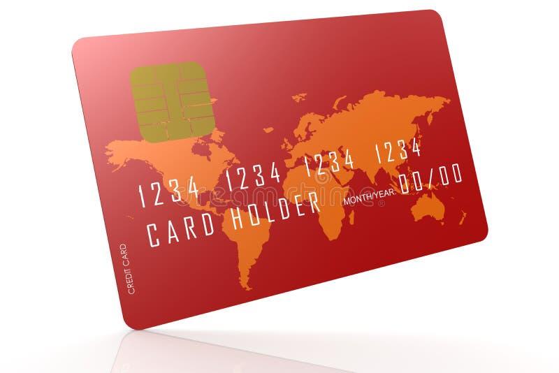 Rode creditcard op bezinningsvloer vector illustratie