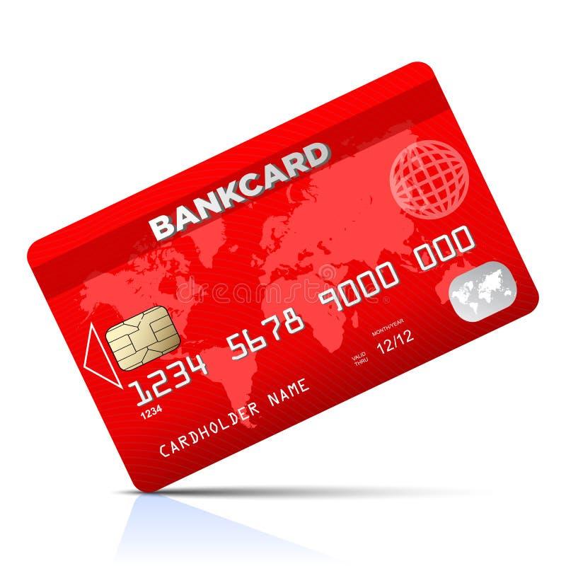 Rode creditcard - vector vector illustratie