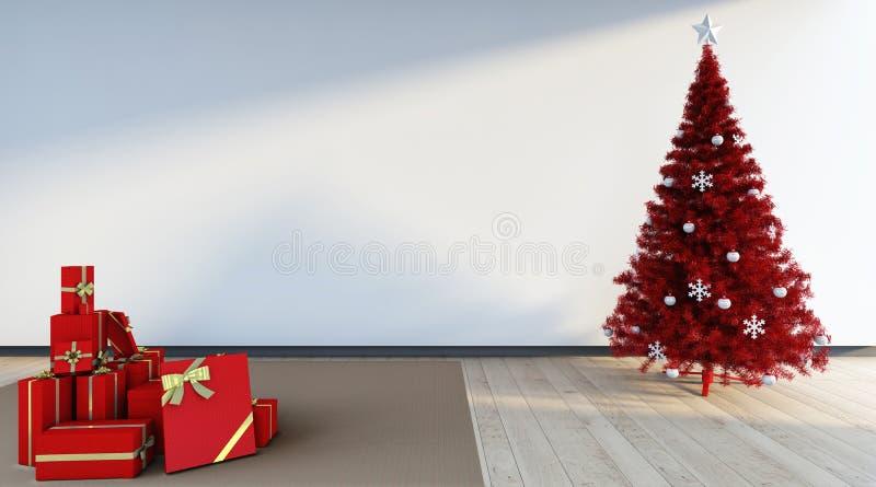 Rode cristmasboom vector illustratie
