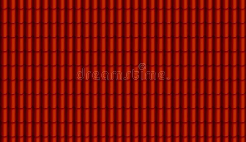 Rode dak digitaal geschilderd textuur stock illustratie