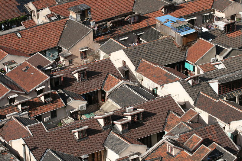 Rode daken royalty-vrije stock foto