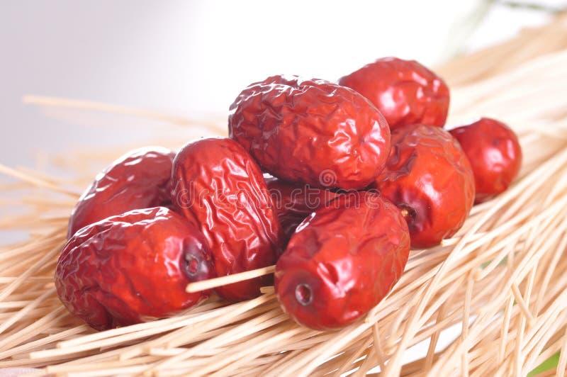 Rode datum-droge Vruchten royalty-vrije stock foto