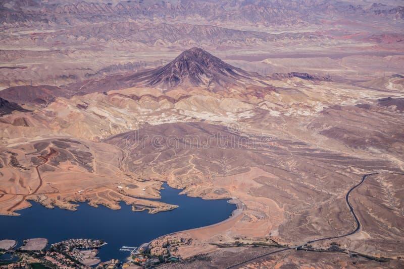 Rode de aardscenics van Nevada van de rotscanion royalty-vrije stock afbeeldingen