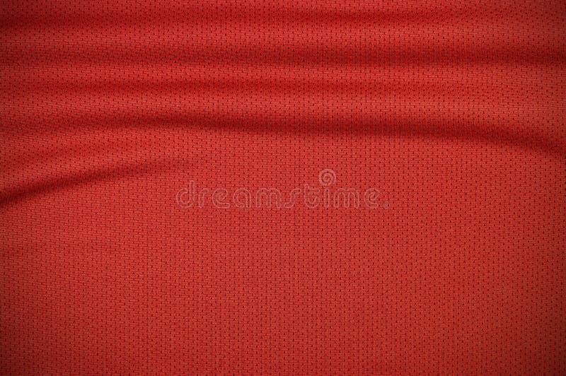 Rode de kledingstextuur van sportjersey royalty-vrije stock fotografie