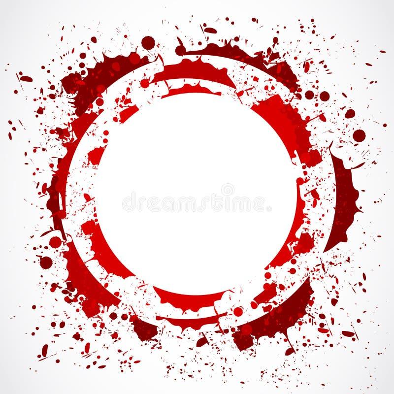 Rode de plonscirkel van Grunge vector illustratie