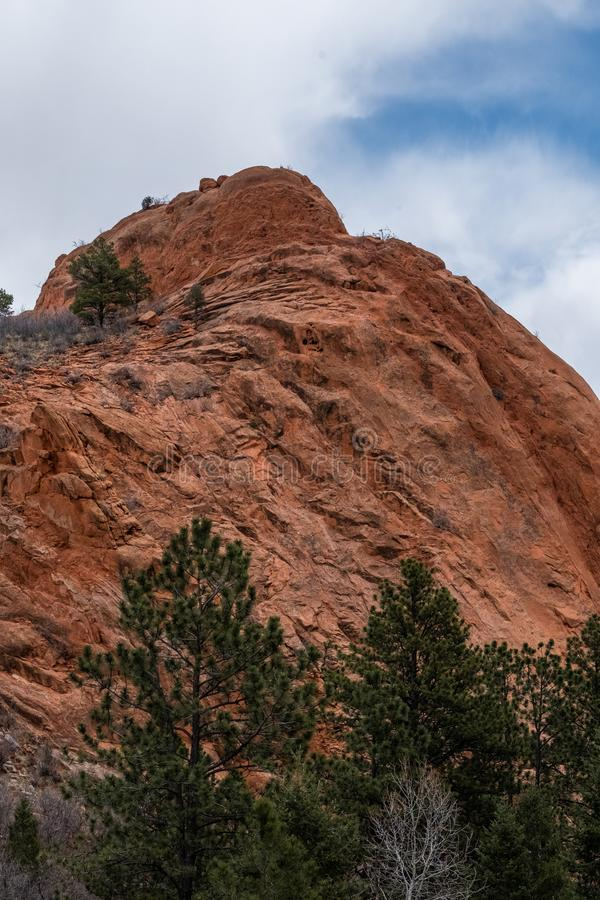 Rode de Rotsenopen plek Colorado Springs van Colorado stock foto's
