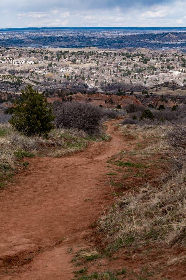 Rode de Rotsenopen plek Colorado Springs van Colorado royalty-vrije stock foto