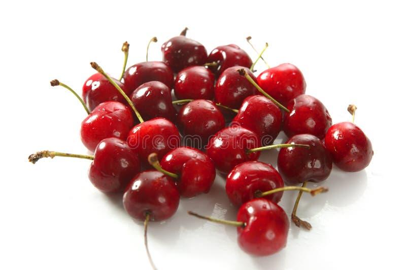 Rode de vruchten van de kers textuur stock fotografie
