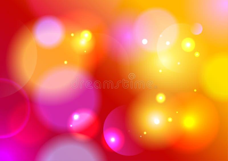 Rode de zomer bokeh achtergrond. vector illustratie