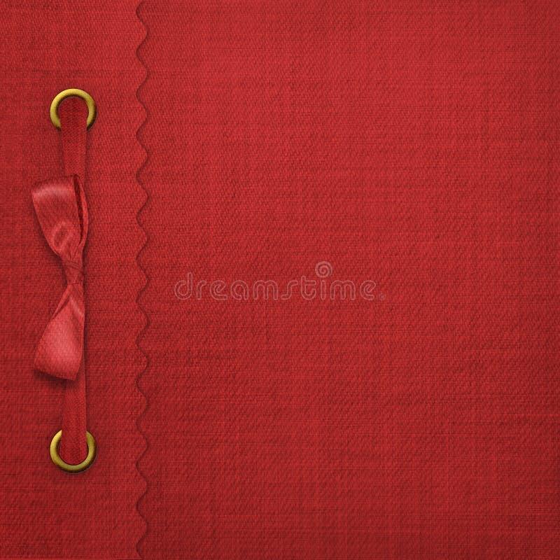 Rode dekking voor een album royalty-vrije illustratie
