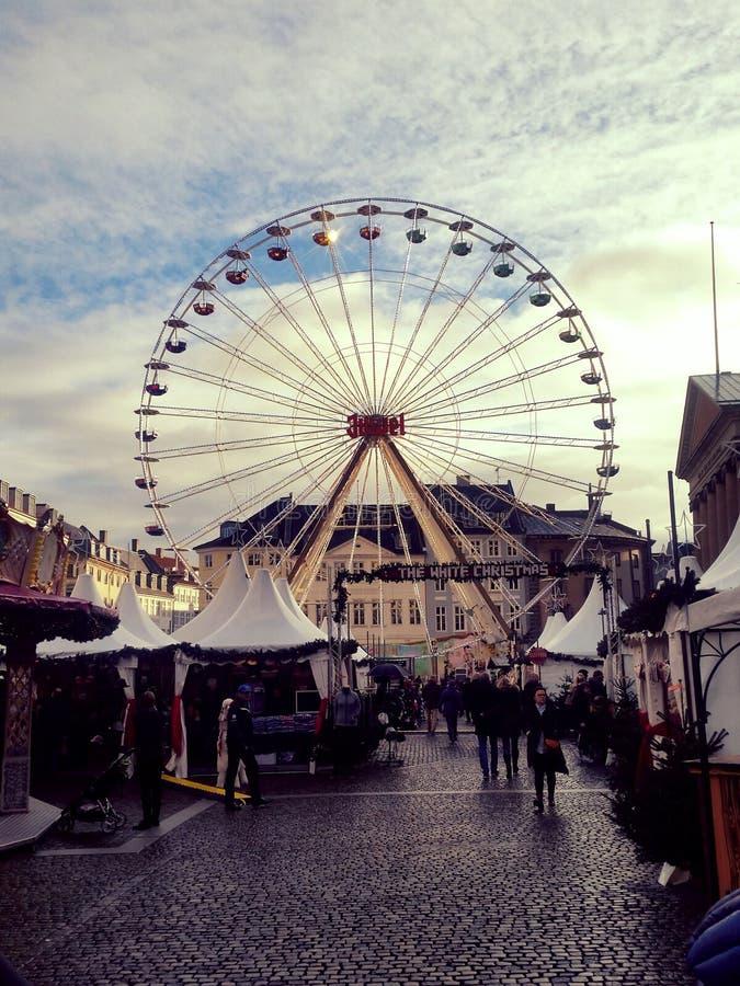 Rode dentro Copenhaga imagem de stock royalty free
