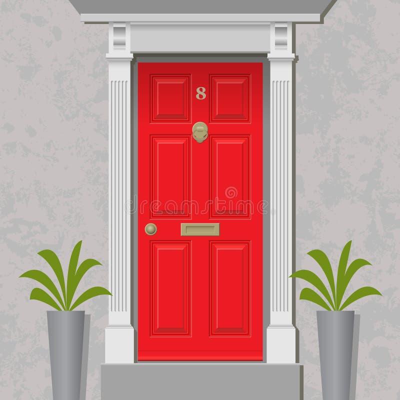 Rode Deur royalty-vrije illustratie
