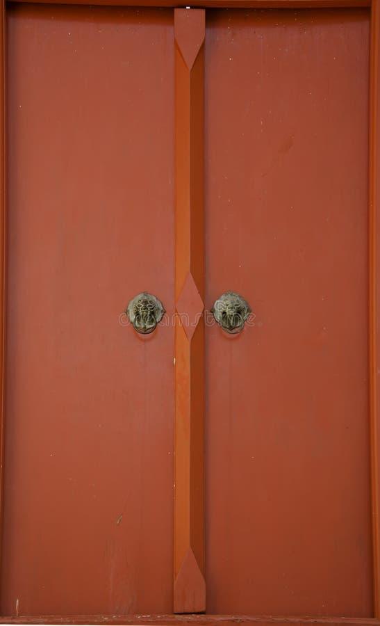 Rode deur royalty-vrije stock fotografie