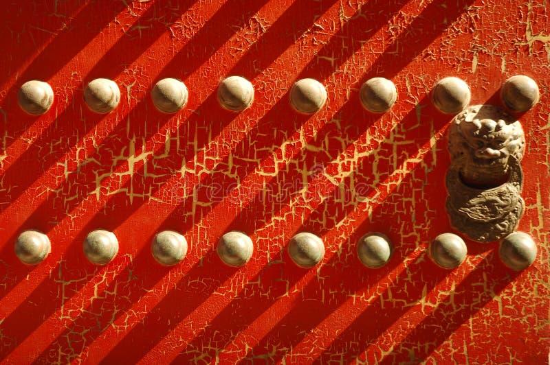 Rode deur bij de Verboden Stad stock foto