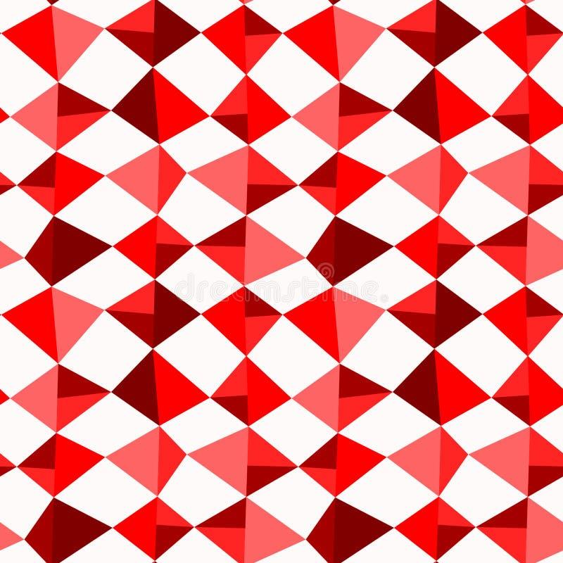 Rode Diamanten Naadloze Achtergrond vector illustratie