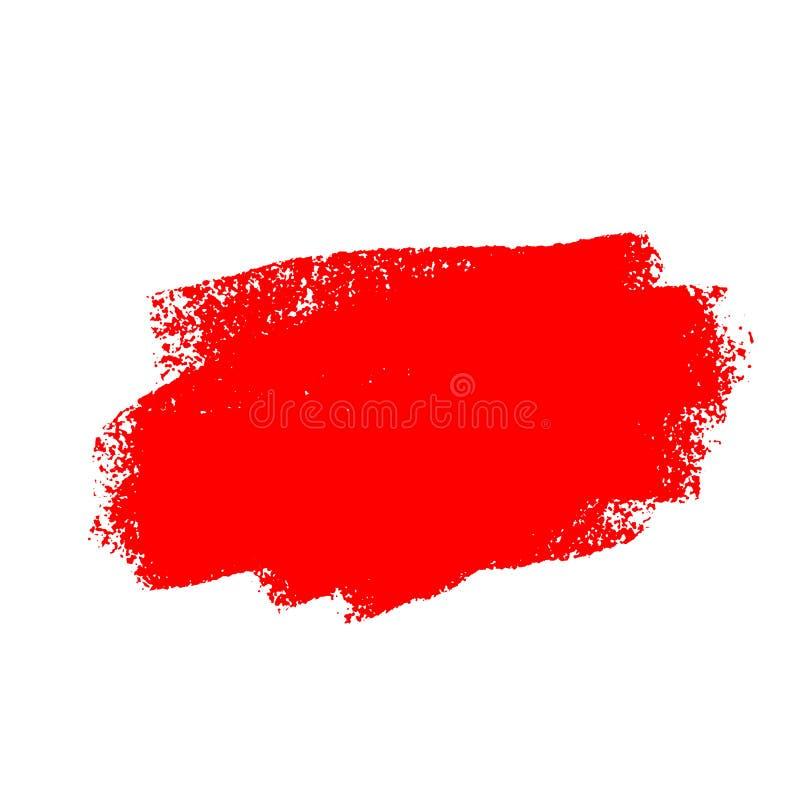 Rode die borstelslag op witte achtergrond wordt geïsoleerd stock illustratie