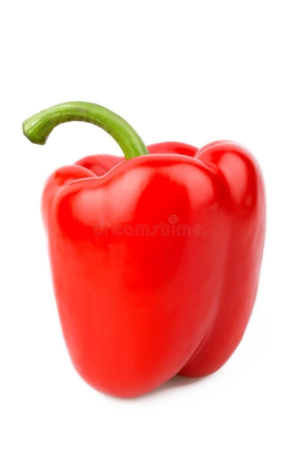 Rode die groene paprika op wit wordt geïsoleerd royalty-vrije stock foto's