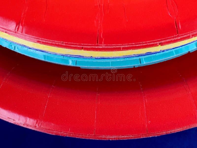 Rode document platen royalty-vrije stock foto