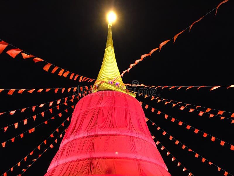 Rode doekpagode in Thailand royalty-vrije stock afbeeldingen
